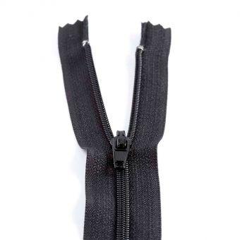 Fermeture polyester non séparable à glissière - Noir