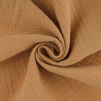 Tissu double gaze coton sable