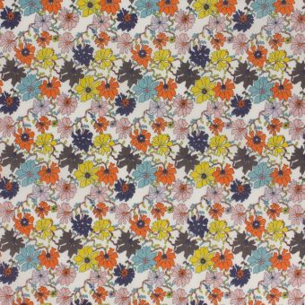 Tissu popeline de coton Liberty Sea Petals