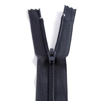 Fermeture polyester non séparable à glissière - Bleu marine