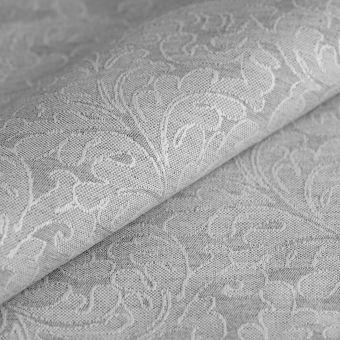 Tissu jacquard coton recyclé arabesques gris