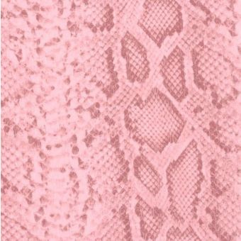 Simili cuir effet peau de serpent rose