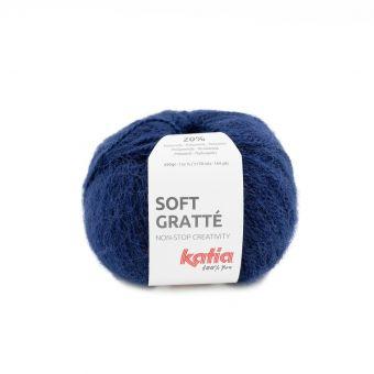 Fil à tricoter Katia soft gratté bleu marine pour peaux sensibles