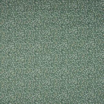 Tissu jersey coton motifs tacheté mini pois vert