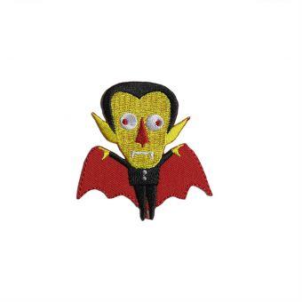 Écusson thermocollant vampire jaune et noir