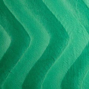 Tissu fausse fourrure velboa uni vert
