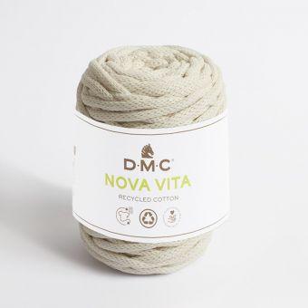 Pelote de fil Nova Vita 12 - coton recyclé crème n°31