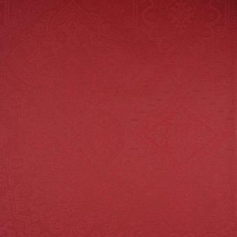 Tissu damassé enduit rouge Clara
