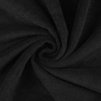 Tissu microfibre absorbante special couche noir