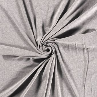 Tissu jersey bio et recyclé gris clair
