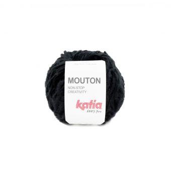 Pelote de fil à tricoter Katia Mouton noir