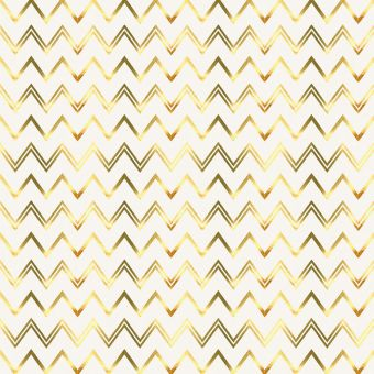 Tissu coton épais zigzag doré