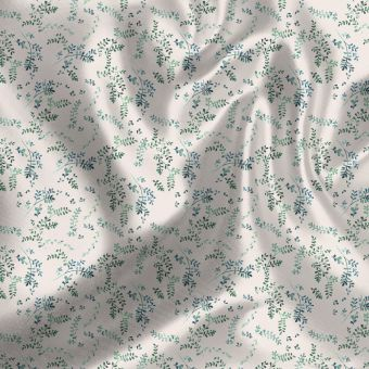 Tissu satin recyclé mini herbiers - La Panda Love Fabrics