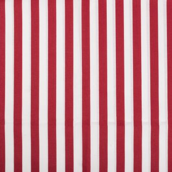 Tissu coton rayure rouge