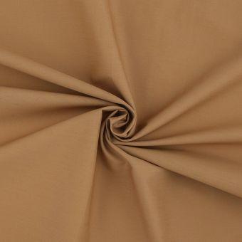 Tissu popeline unie camel