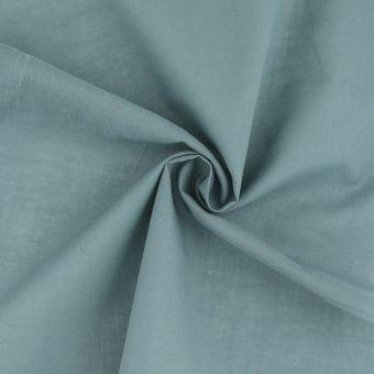 Tissu voile de coton uni bleu