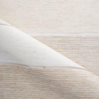 Tissu voilage à rayures horizontales beiges et écru et textures contrastantes