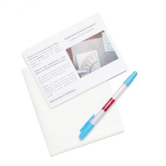 Kit papier transfert + feutre effaçable