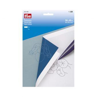 Papier carbone blanc et bleu