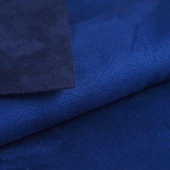 Tissu suédine double face Alaska bleu roi