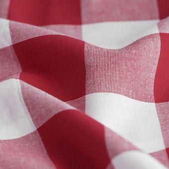 Tissu Vichy coton rouge