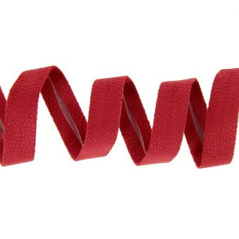 Biais motif python rouge 20 mm