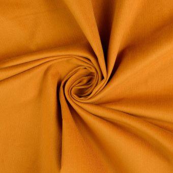 Tissu coton velours côtelé jaune safran
