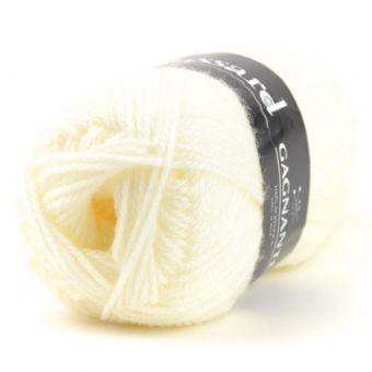 Pelote de fil à tricoter gagnante écru - Plassard