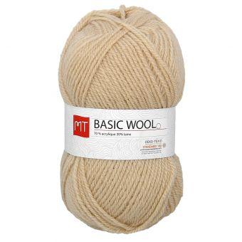 Pelote de fil à tricoter MT basic wool beige