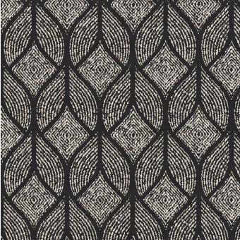 Tissu jacquard coton polyester à imprimé graphique noumea anthracite