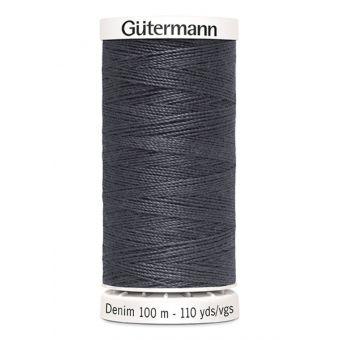 Fil à coudre Denim Gütermann 100 m bleu gris