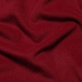 Tissu lainage manteau burgundy uni fait en Italie