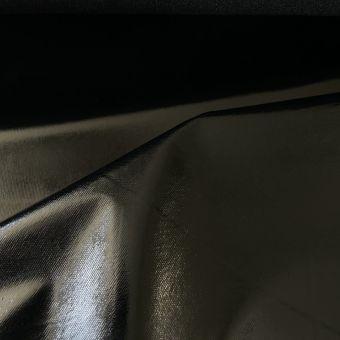 Tissu vinyle  polyurethane brillant noir