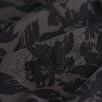 Tissu twill coton hawai noir gris