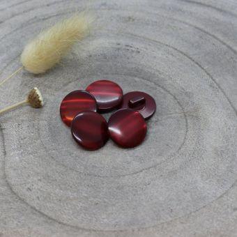 Bouton Swing rouge amarante 10 mm - Atelier Brunette