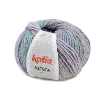 Pelote de fil à tricoter Katia Azteca violet vert