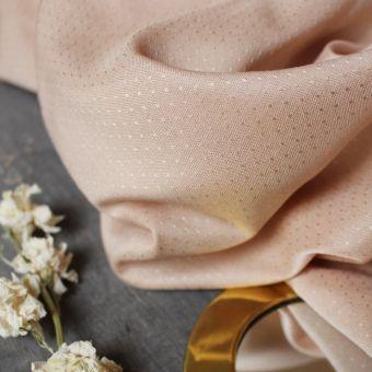 Tissu viscose plumetis dobby blush - Atelier Brunette