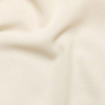 Tissu crêpe de laine écru uni fait en Italie