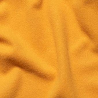 Tissu lainage manteau moutarde uni fait en Italie