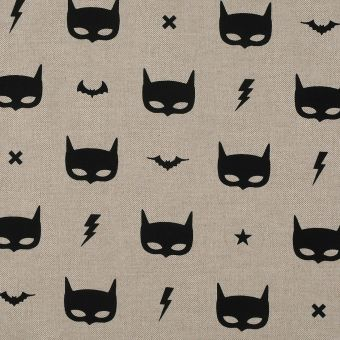 Tissu coton épais masque de batman