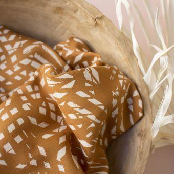 Tissu crêpe de viscose Shade ochre - Atelier Brunette