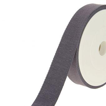 Sangle coton grise argenté 30 mm