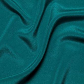Tissu crêpe de soie bleu canard uni 100% Italie