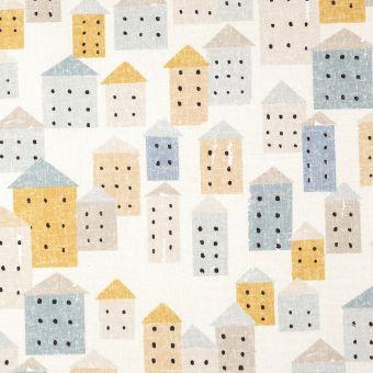 Bachette grise imprimé maisons