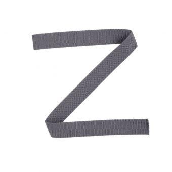 Sangle coton gris foncé 23 mm