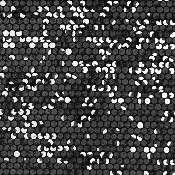 Tissu velours effet sequins noir et argent