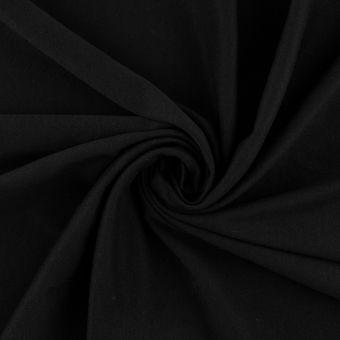 Tissu interlock coton pima noir