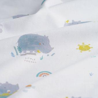 Tissu jersey coton rhinocéros