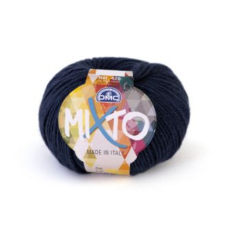 Pelote de fil à tricoter DMC Mixto bleu nuit