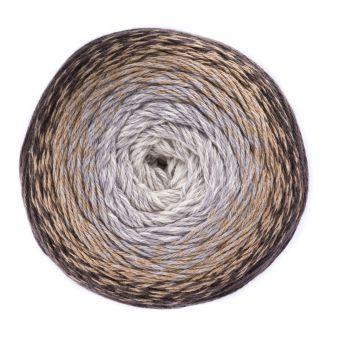 Fil à tricoter dégradé marron/beige